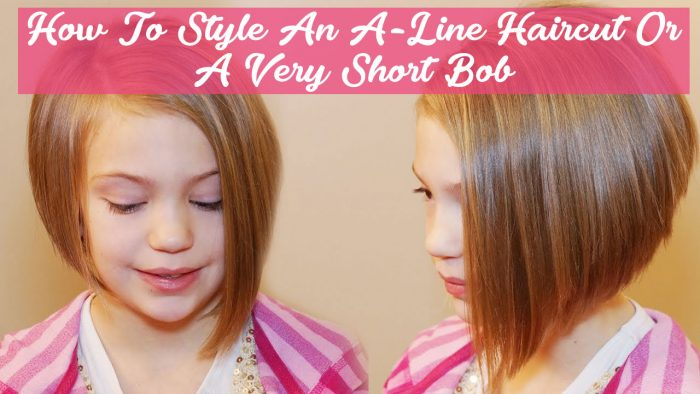 How To Style An A Line Haircut Or A Very Short Bob Hair Style Guide